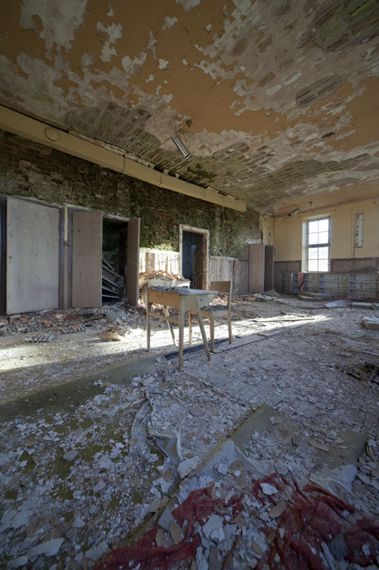 The old school lonely classroom