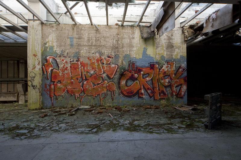 Fredriksberg paper mill grafiti