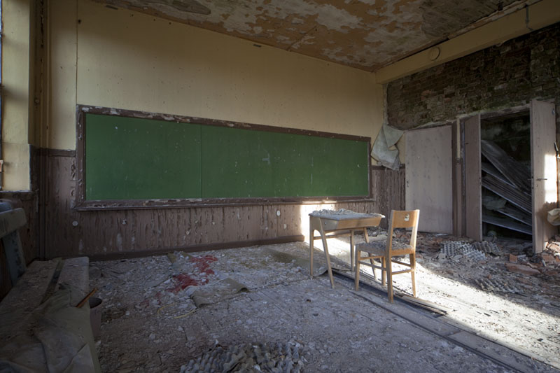 The old school classroom first