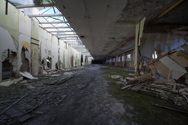 Fredriksberg paper mill long room