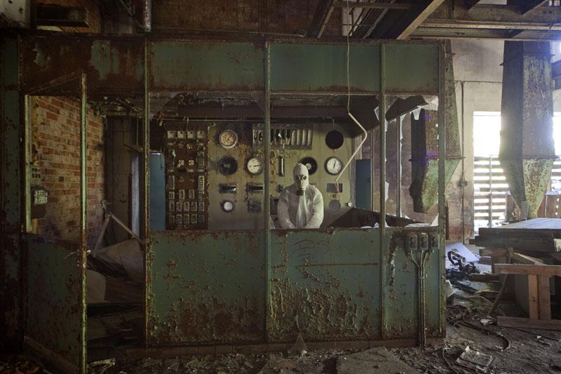 Fredriksberg paper mill control room