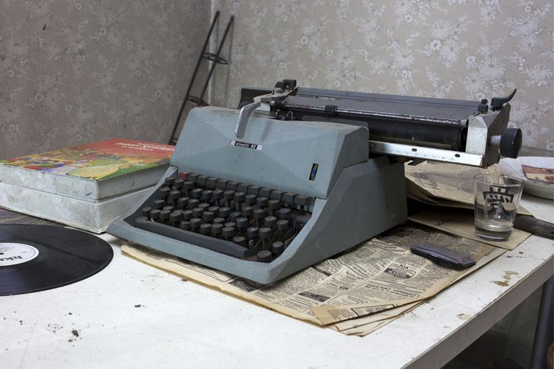 Villa O - Olivetti typewriter