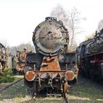 15 Pics of Abandoned Trains, Trolleys and Rusty Locomotives