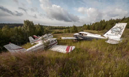 A small plane cemetery in Norway (NO)